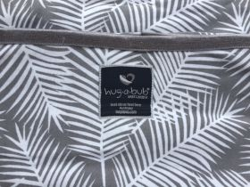 NEW! Organic Lightweight Wrap - Grey Palms & FREE Attachable Hip Bag CHARCOAL (rrp $29.95)
