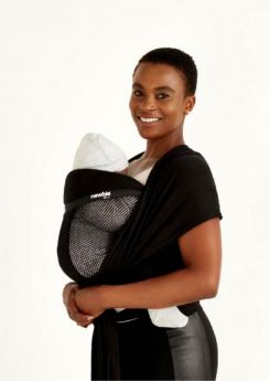 Newbie Love - BLACK MESH & FREE attachable Hip Bag BLACK (rrp $29.95)