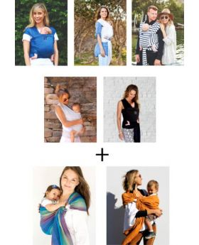 HUG A BUB Pocket Wrap and Ring Sling Bundle